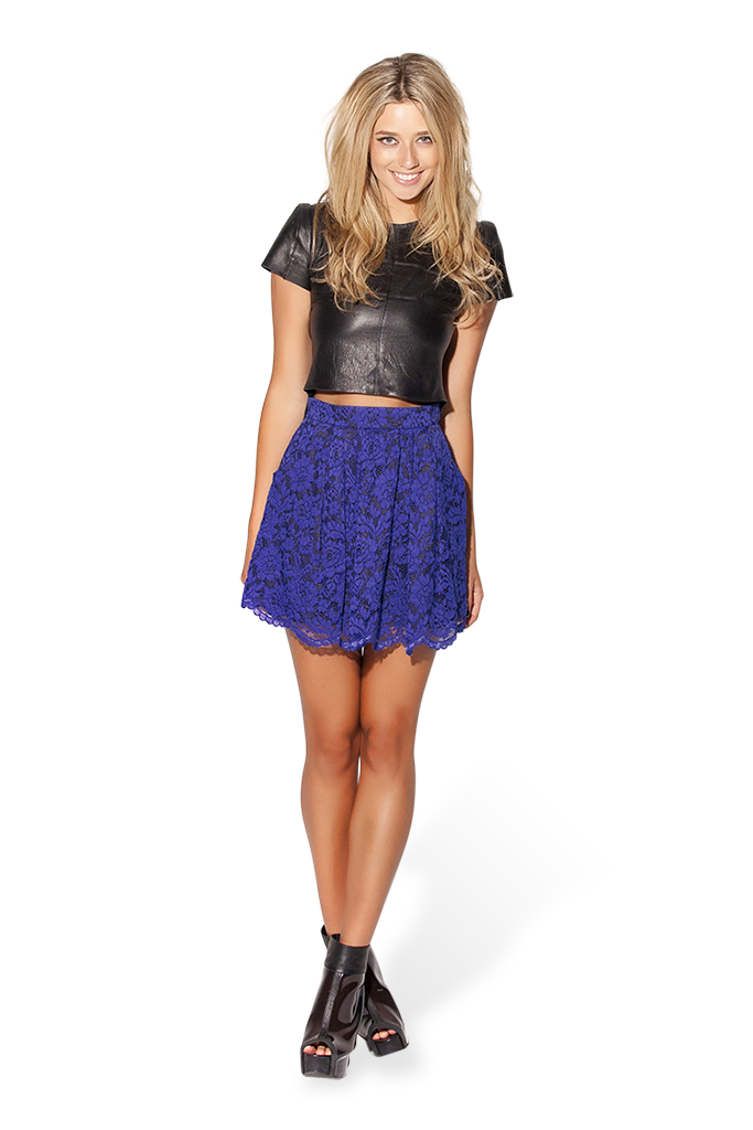 Lacey Skater Blue Skirt