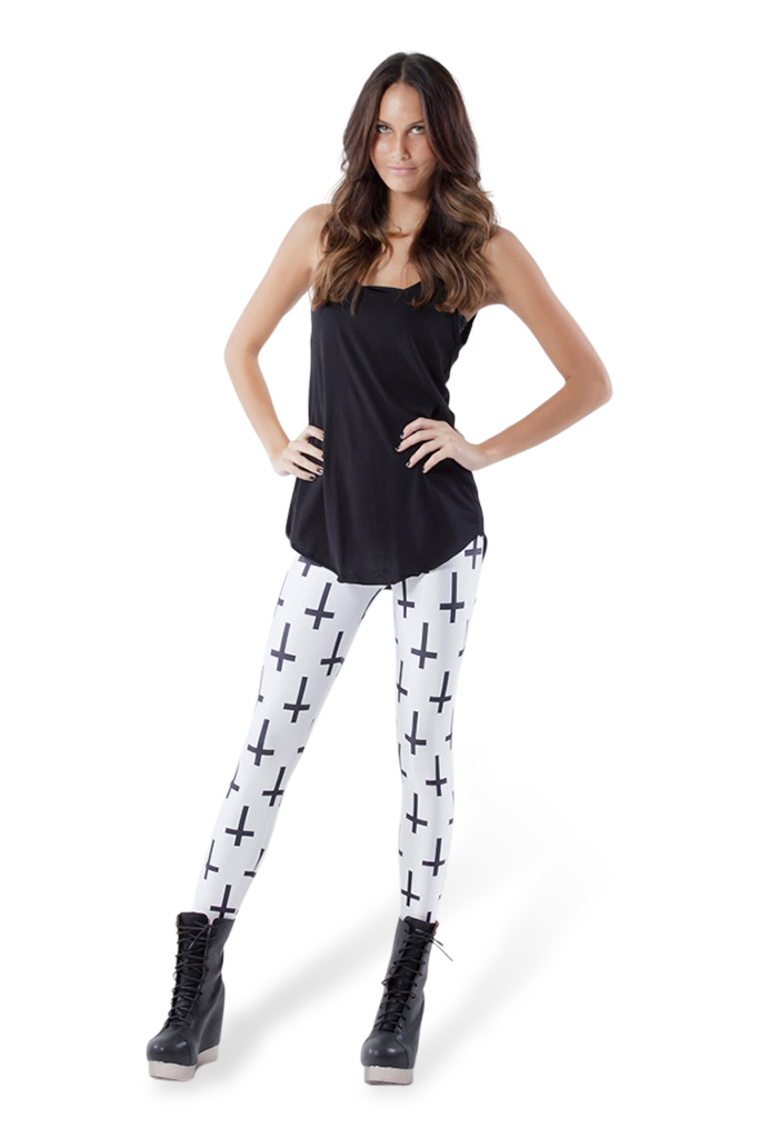 Cross of St Peter White Leggings