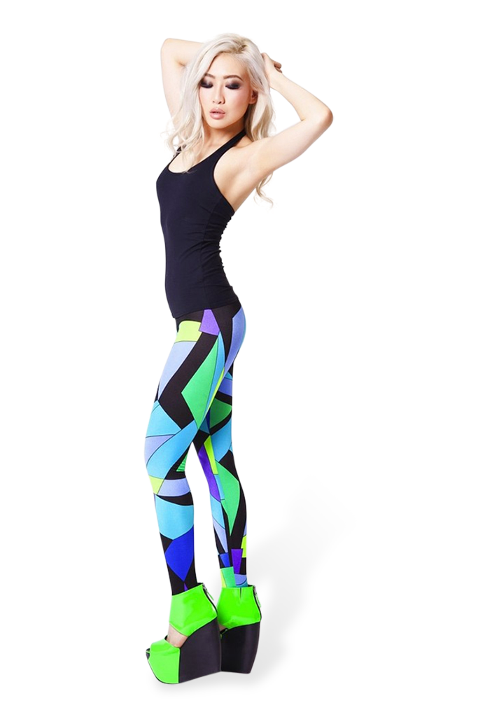 Cubism Blue Leggings