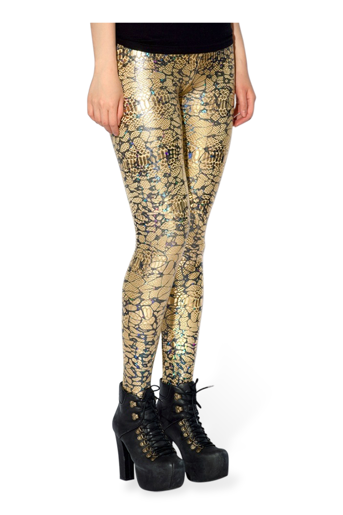 Dragon Snot Gold Leggings