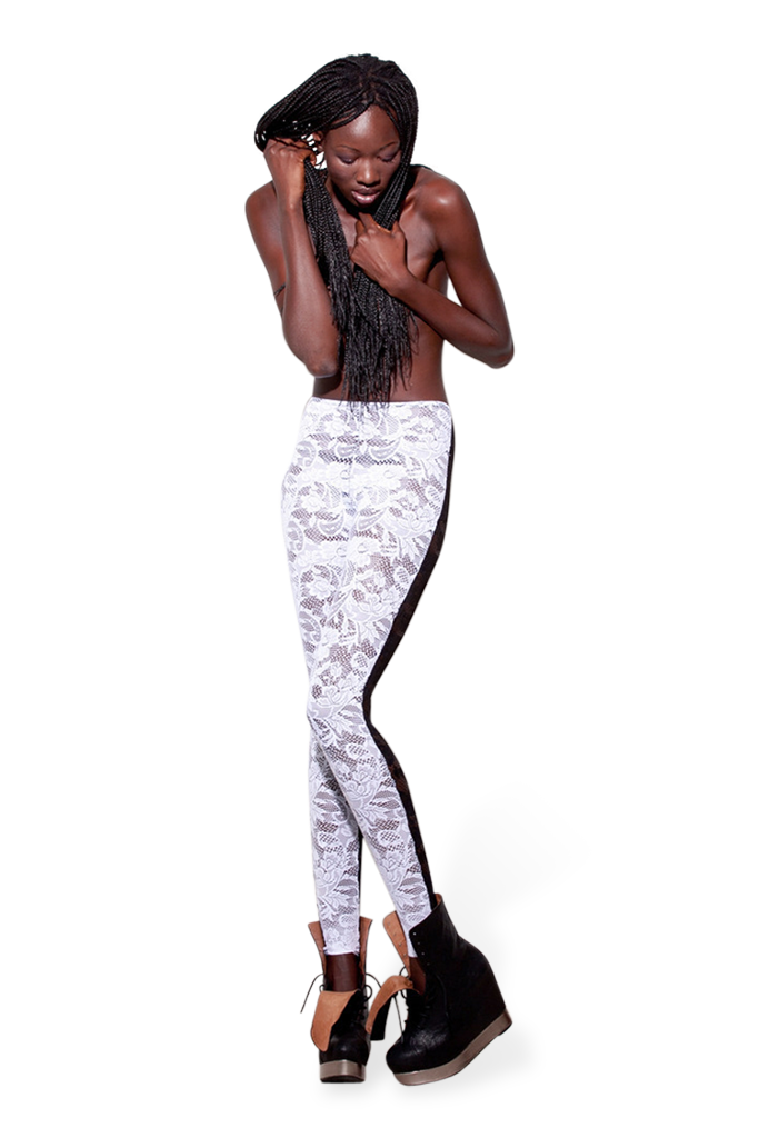 Ebony + Ivory Lace Leggings