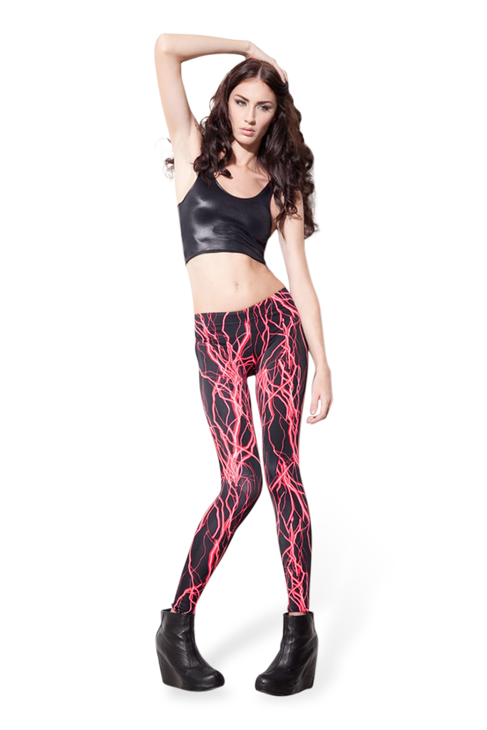 Electro Red Leggings