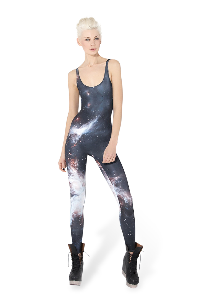 Galaxy black catsuit black milk clothing