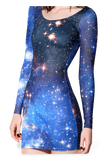 Galaxy Blue Long Sleeve Dress