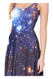 Galaxy Blue Maxi Dress