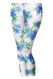 Honolulu White and Blue Leggings