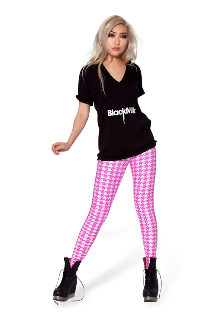 Houndstooth Pink Leggings