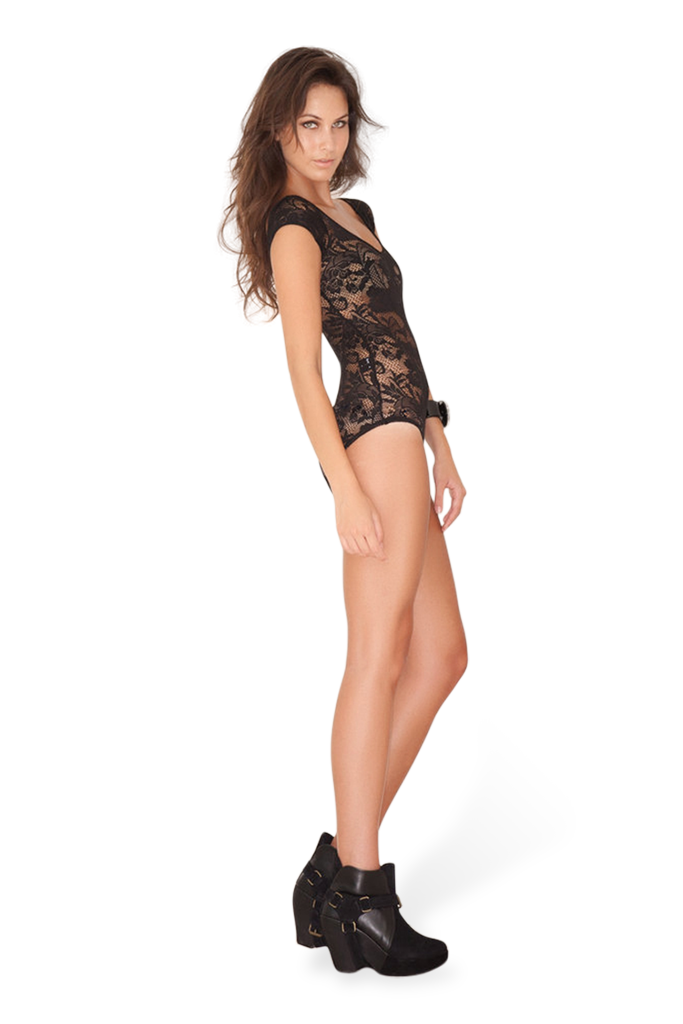 Lace Capped Sleeve Bodysuit