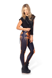 Leg Bones Neon Orange Leggings