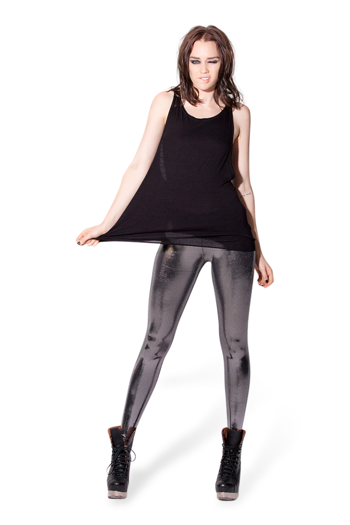 Liquid Silver Leggings
