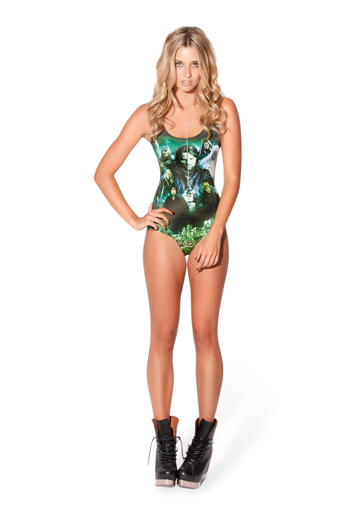 Lord Of The Rings Montage Green Swimsuit