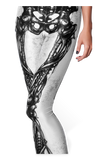 Mechanical Bones White Leggings