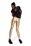 Metallic Velvet Gold Leggings
