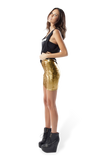 Metallic Velvet Gold Skirt