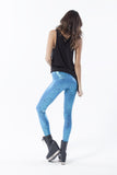 Snakey Blue Leggings