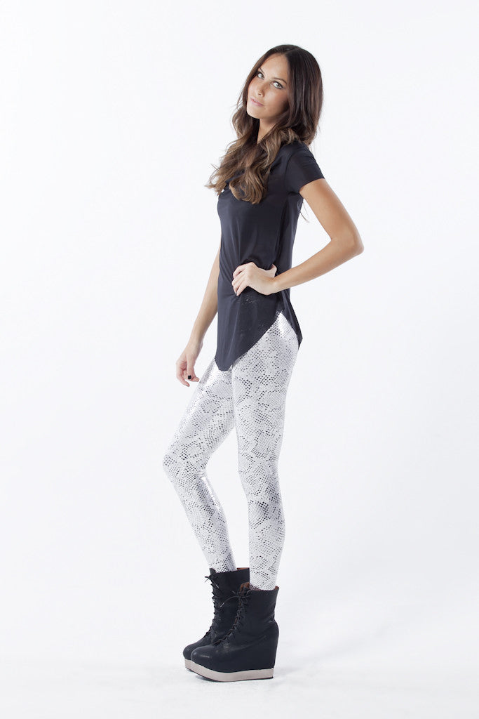 Snakey Silver Leggings