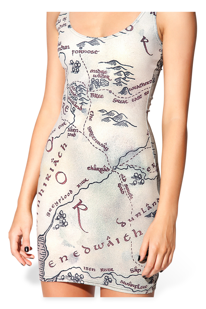 Middle Earth Map Dress - LIMITED – Black Milk Clothing