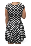Evil Monochromatic Dot Dress