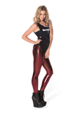 Oil Slicks Red/Pink Leggings