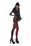 Pyramids Red Leggings