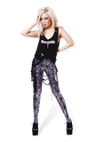 Pyramids Silver Leggings