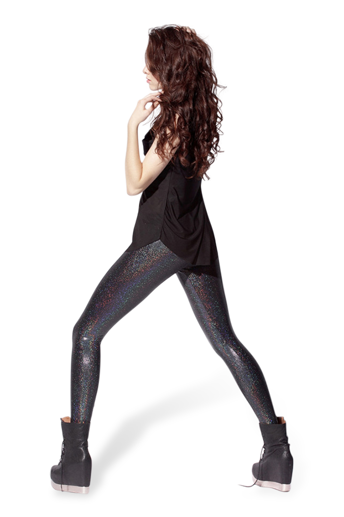 Reptilian Black Glam Leggings