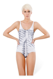 Ribs White Swimsuit