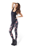 Roses Black Leggings