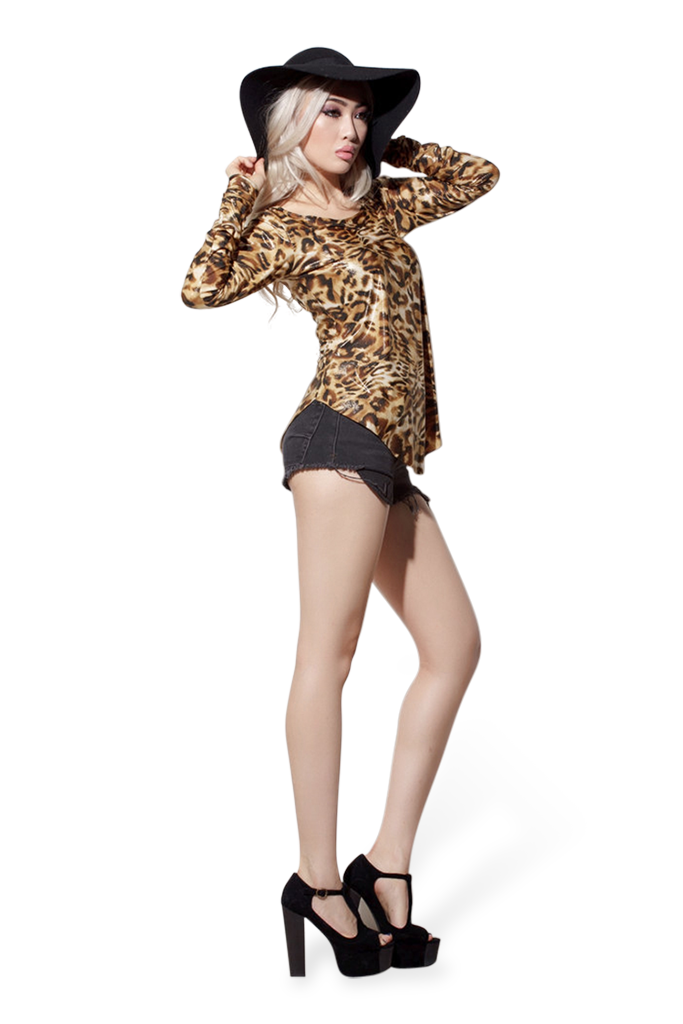 Scrunchy Army Leopard Top