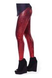 Shattered Glass Cherry Leggings