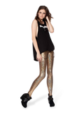 Shattered Glass Gold Leggings