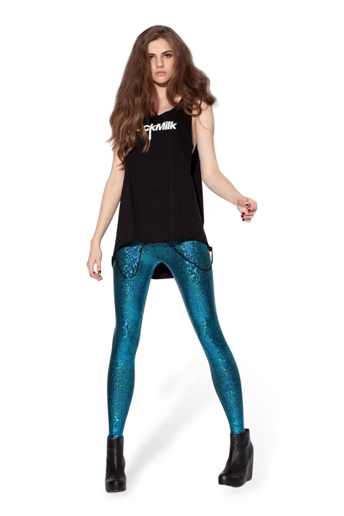 Shattered Glass Teal Leggings