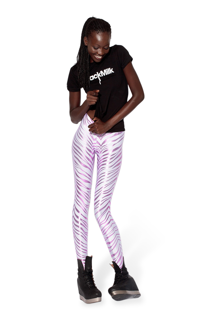 Snow Zebra Pink Leggings