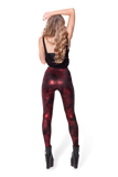 Spray Paint Red High Waisted Leggings