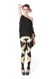 Straps Gold Leggings