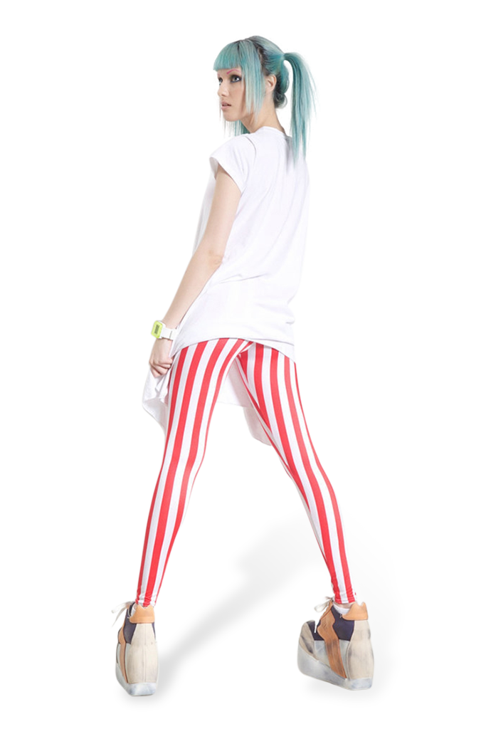 Stripes Red Leggings