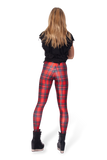 Tartan Red Leggings