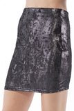 Metallic Velvet Black Skirt