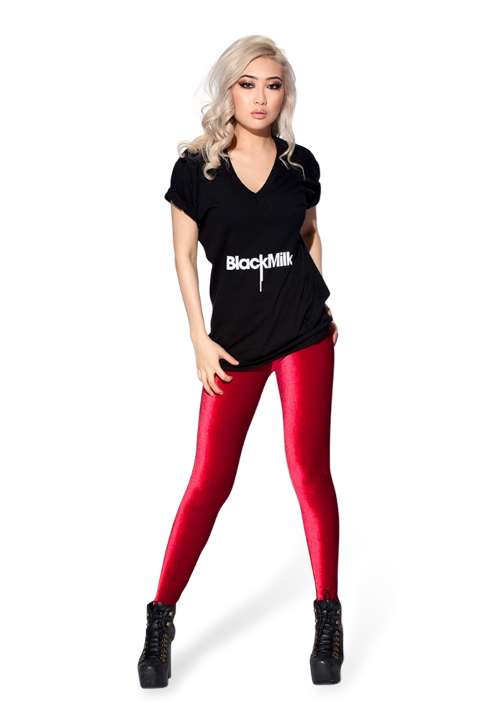 Velvet Red Leggings