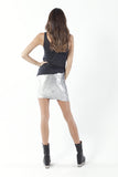 Metallic Velvet Silver Skirt