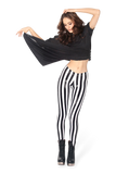 Wet Look Beetlejuice Leggings