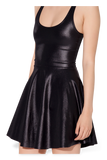 Wet Look Reversible Skater Dress