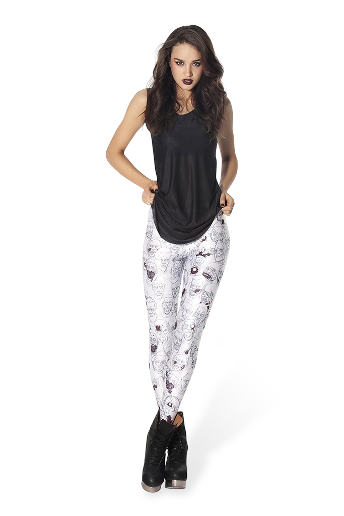 Zombie White Leggings