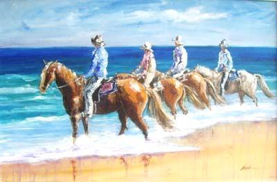 Riders on the Beach