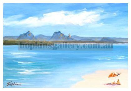 Glasshouse Mountains from Bribie