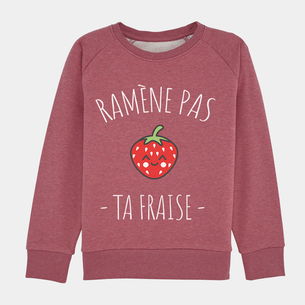 pull fille ramène pas ta fraise rouge