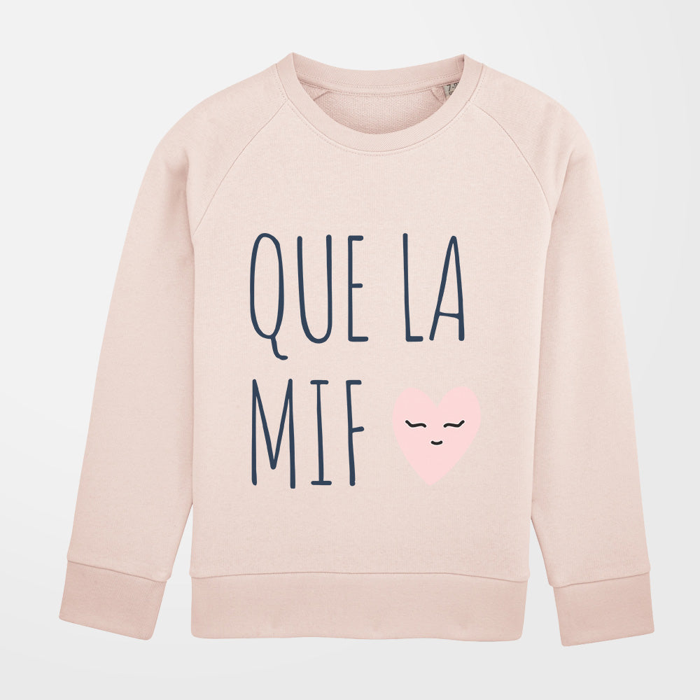 Pull - Que la mif - fille - rose