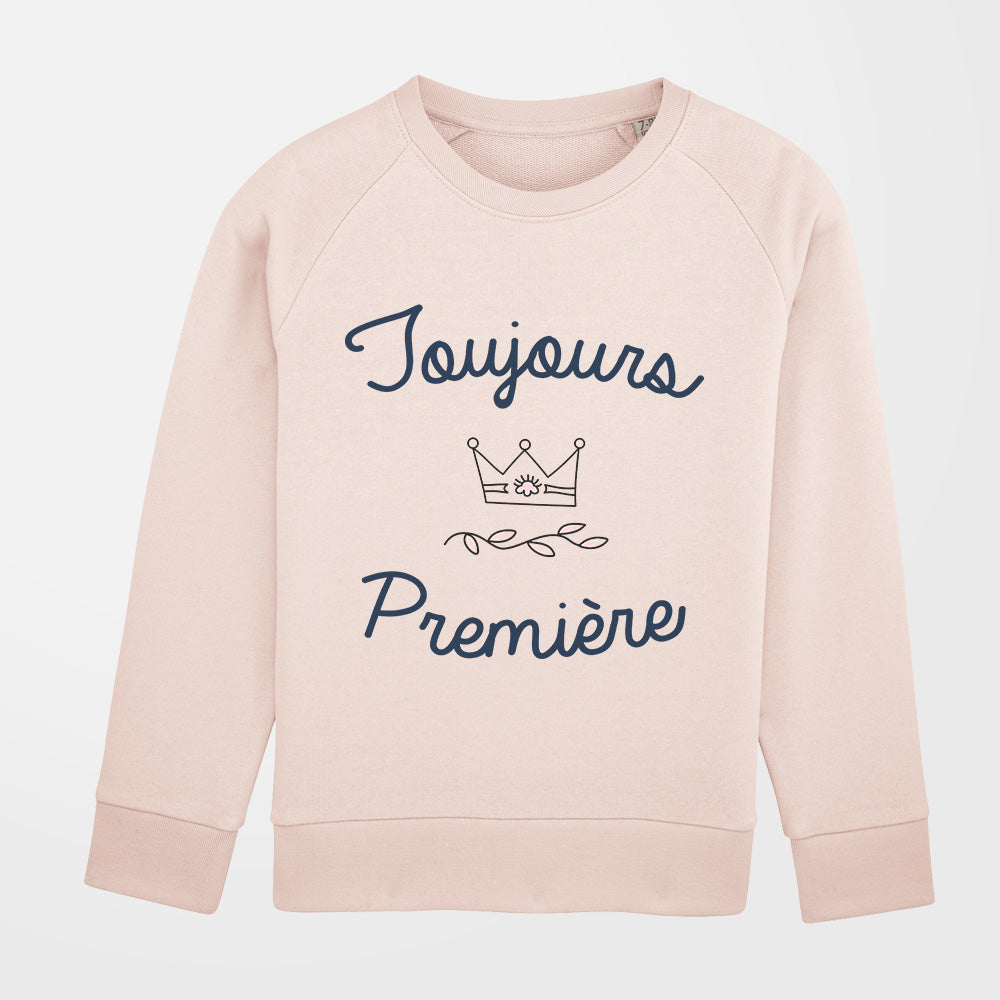 Pull - Toujours première - fille - rose pale