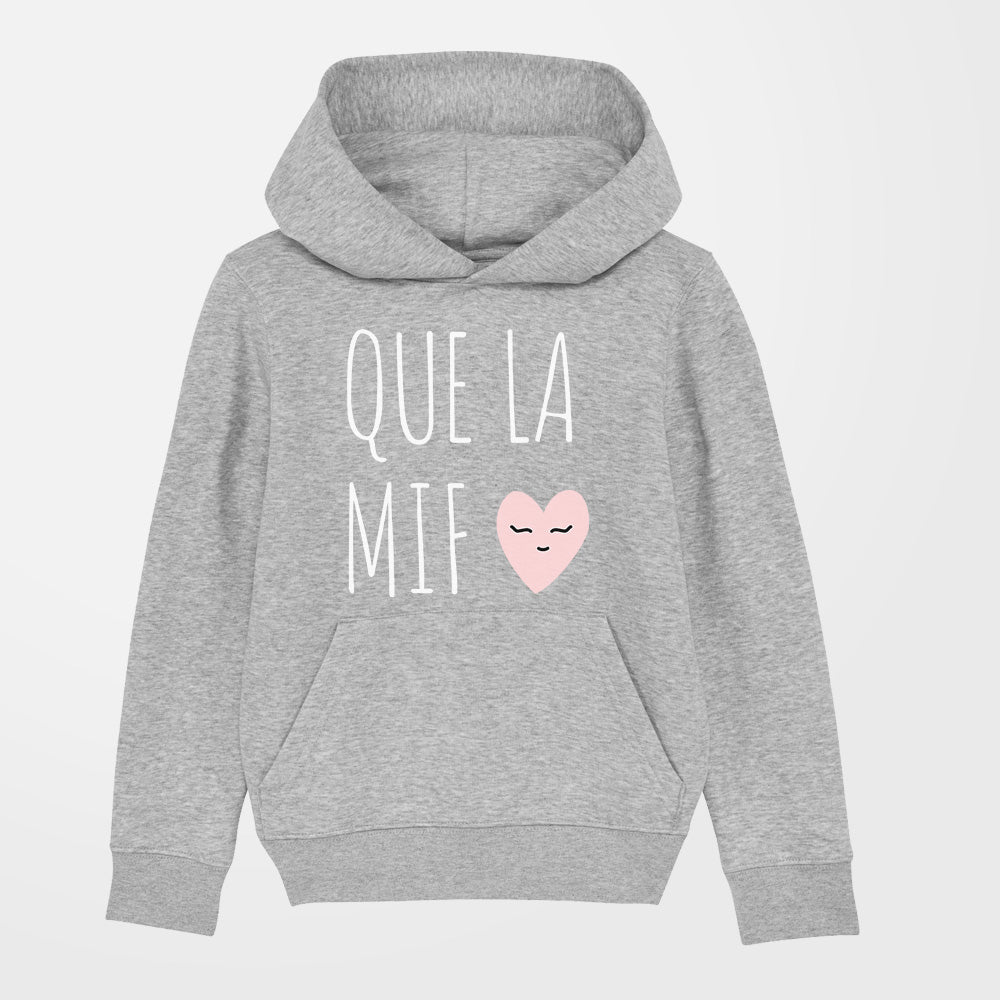 Sweat - Que la mif - fille - gris