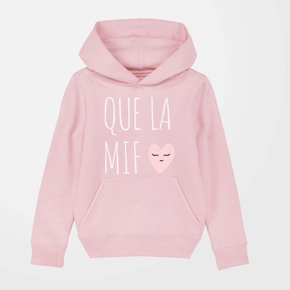 Sweat - Que la mif - fille - rose